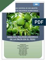 Análisis Macroeconómico de La Palta en El Perú Final Corregido