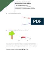 Examen Parcial de Matematicas III