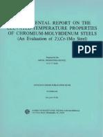 DS6S1 - (1966) Supplemental Report on the Elevated-Temperature Properties of Chromium-Molybdenum Steels