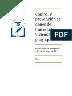 control y prevención de daños de humedad en viviendas guayaquileñas