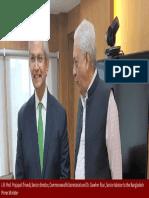 Prof. Prajapati Trivedi, Senior Director, Commonwealth Secretariat and Dr. Gowher Rizvi , Senior Adviser to the Prime Minister of Bangladesh