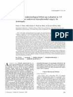 [Journal of Neurosurgery] Long-term Endocrinological Follow-up Evaluation in 115 Patients Who Underwent Transsphenoidal Surgery for Acromegaly