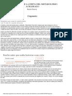 Las Recetas de La Dieta Del Metabolismo Acelerado - Haylie Pomroy - Primer Capítulo - Megustaleer - GRIJALBO