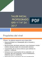 2017 Taller Inicial d Curricular