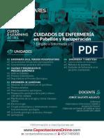 Afiche Curso E Learning Cuidados de Enfermería en Pabellón y Recuperación OTEC Innovares