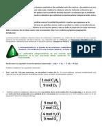 La Estequiometria Es El Estudio de Las Relaciones Cuantitativas