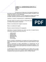 Resumen de Libro La Administracion en La Iglesia Cristiana (Wilfredo Calderon)