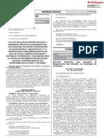 Ley que declara de interés nacional la integración de Machupicchu y Choquequirao