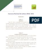 Concurso Nacional de Leitura 2010-2011- Regulamento