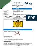 Ficha de Seguridad Hipoclorito de Sodio