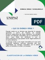 Energia Verdes y Ecodesarrollo