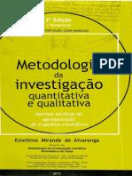 Alvarenga, E. Metodologia Cientifica.