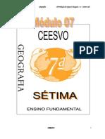 Apostila Ensino Fundamental  CEESVO - Geografia - Módulo 07