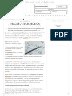 Definición de Modelo Matemático - Qué Es, Significado y Concepto