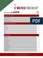 Ultimate Watch Checklist
