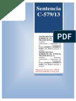 Sentencia C-579-13