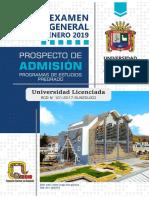 Prospecto General Enero 2019