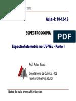 ANALÍTICA v 2S 2012. Aula 4-10-12-12 ESPECTROSCOPIA. Prof. Rafael Sousa. Notas de Aula_ Www.ufjf.Br_baccan