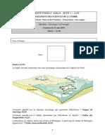 Examen Geologie Univ Setif 2016 Corrige