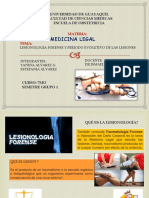 Lesionologia Forense y Evolucion de La Enfermedad