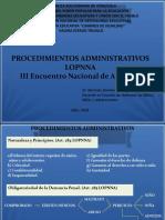 Procedimientos Administrativos LOPNNA PNFAE