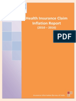 Health Insurance Claim Inflation Report 20102016