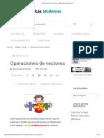 Operaciones de Vectores _ Matematicas Modernas