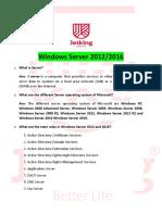 Windows Server 2012-2016 Interview Questions