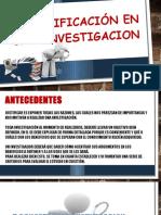 Justificación en Una Investigacion