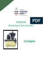 UNIT 5 Receprocating Compressor