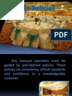 Banquet Policies