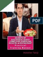 Guest Complaint Handling in Hotel Restaurant