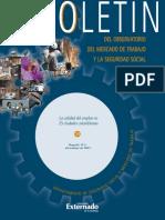 La Calidad Del Empleo en 23 Ciudades Colombianas