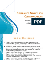 Electronics Circuits for Communications