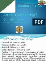 1987 Philippine Constitution Report Original