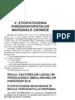 43. Etiopatogenia Parodontopatiilor Marg