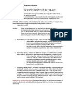 Media and Information Literacy notes