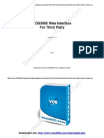 VOS3000 Web Interface Developing Manual(VOS3000.Com)