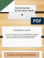Tecnicas de Comunicaion Oral