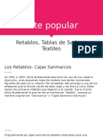 Arte Popular Retablos, Textileria, Tablas de Sarhua