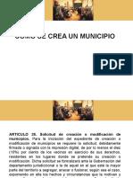 30. Creación Municipios