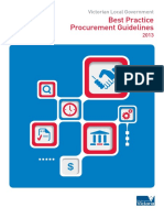 Victorian Local Government Best Practice Procurement Guidelines 2013