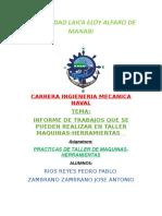 INFORME DE TRABAJOS ENTALLER MAQUINAS-HERMAIENTAS (1) (1) (1).docx