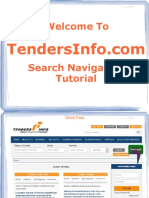 Tenders Info Search Navigation Tutorial