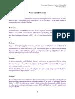 02. Problem Set- Consumer Behaviour