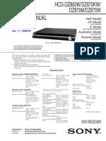 Sony Hcd Dz860w service manual