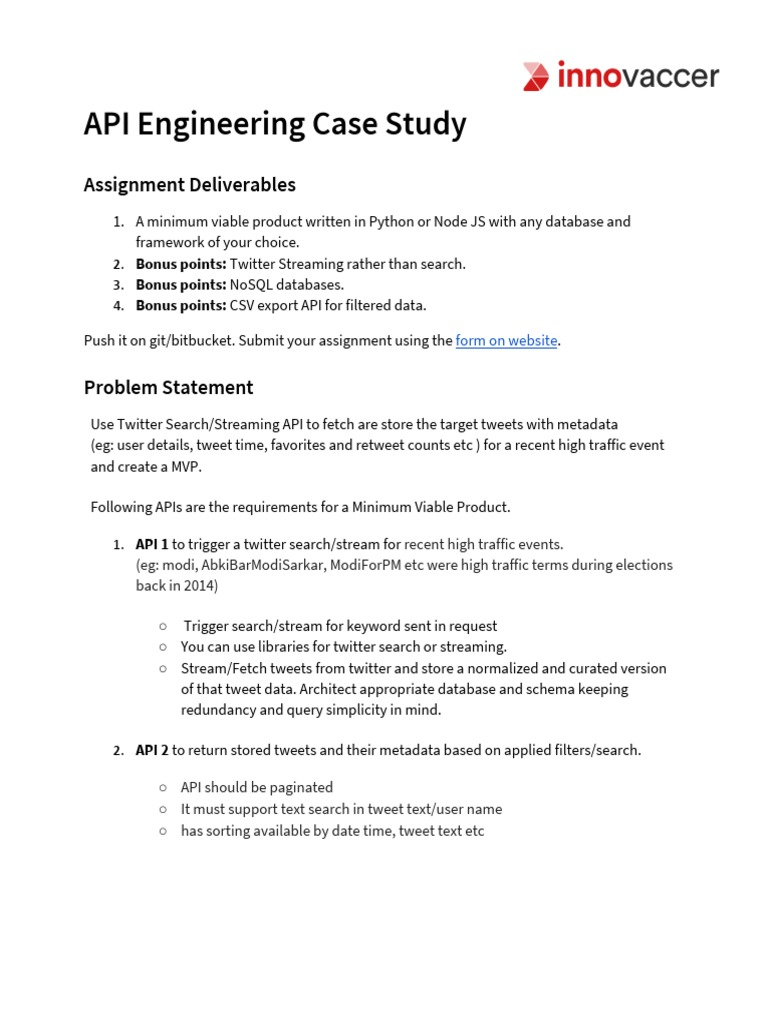 Backend API Assignment | Application Programming Interface