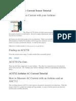 ACS758 Arduino Current Sensor Tutorial