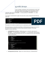 P5 - Using Arrays