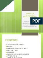 Presentation on Piezoelectric Energy Harvesting